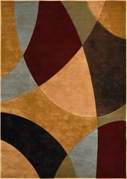 Evolution Abstract Circles Area Rug (Multi)