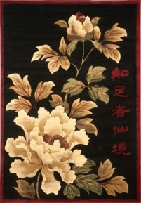 Evolution Asian Flowers Area Rug