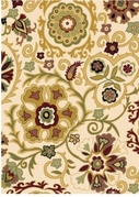 Evolution Flowery Area Rug (Beige)