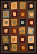 Evolution Funky Squares Area Rug (Brown)