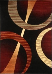 Evolution Modern Circles Area Rug (Dark)