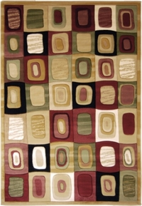 Evolution Modern Squares Area Rug 8x11