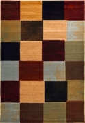 Evolution Multicolored Squares Area Rug (Multi)