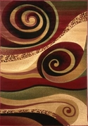 Evolution Swirl Area Rug 8x11