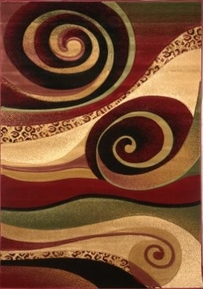 Evolution Swirl Rug 5x8 Area Rug