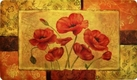 Foam Comfort Kitchen Rug  (Red Poppies)