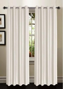 Ana Woven Blackout Panel - Ivory (Beige)