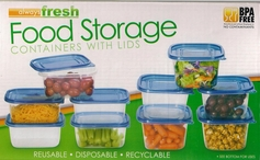 Food Storage Containers with Lids (30 Piece Set)