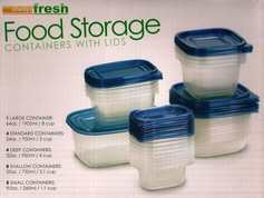 Food Storage Containers with Lids (50 Piece Set)