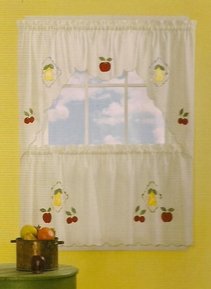 Fresh Fruit Kitchen Curtain Set (Beige)