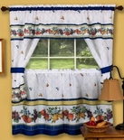 Fruity Tiles Cottage Kitchen Curtain Set
