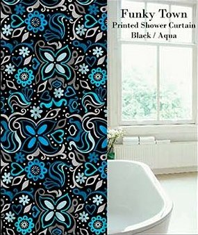 Funky Town Printed Shower Curtain