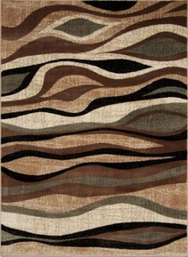 Galaxy Modern Waves Area Rug