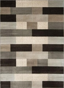 Galaxy Staggered Rectangles Area Rug