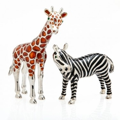 Giraffe & Zebra Salt & Pepper Set