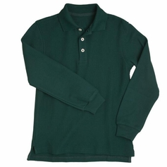 Girl's Long Sleeve Shirt with Picot Collar (Hunter Green)