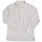 Girl's Long Sleeve Shirt With Picot Collar (White)