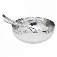 Hammered Salad Bowl & Servers