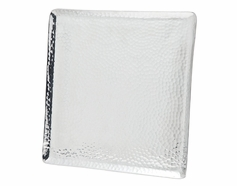 "Hammered 12""x12"" Square Tray"