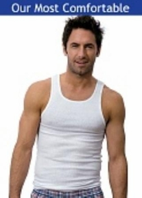 Hanes 3 pack Tagless A-Shirts (Slightly Imperfect)