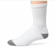 Hanes or Friut of the Loom Men's Cushion Crew Socks (6pk)