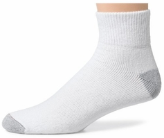 Hanes or Fruit of the Loom Men's Cushion Ankle Socks (6pk)