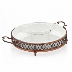 Hanover Copper 5 Section Relish Dish