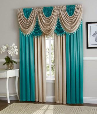 Complete window curtain sets hilton curtain set aqua beige