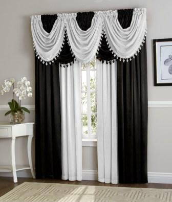 Hilton Curtain Set (Black/White)
