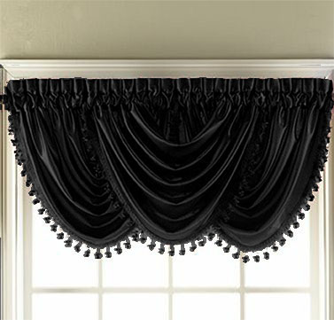 Hilton Waterfall Valance (Black)