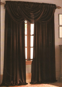 Hilton Waterfall Valance (Brown)
