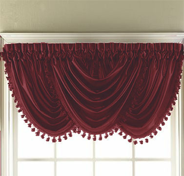 Hilton Waterfall Valance (Burgundy)