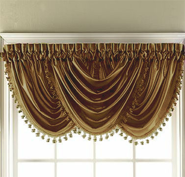 Hilton Waterfall Valance (Gold)