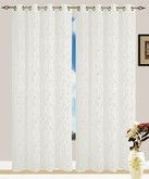 Jaden Embroidered Grommet Curtain (Beige)