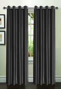 Jane Faux Silk Curtain (2 Piece Set) Charcoal