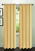 Jane Faux Silk Curtain (2 Piece Set) Gold