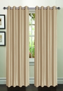 Jane Faux Silk Curtain (2 Piece Set) Taupe