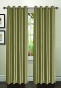 Jane Faux Silk Curtain (2 Piece Set) Tea Green