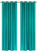 Jane Faux Silk Curtain (2 Piece Set) Turquoise