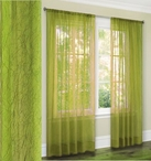 Jenny Crushed Sheer Curtain (Neon Green)