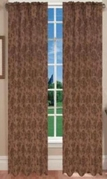 Juliet Jaquard Window Curtain (Chocolate)