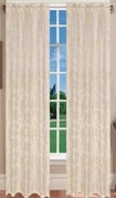 Juliet Jaquard Window Curtain (Ivory)