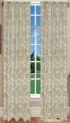 Juliet Jaquard Window Curtain (Sage Green)