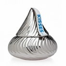 Silver Hershey Kisses Candy Jar
