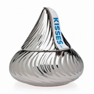 Silver Hersey Kisses Cookie Jar
