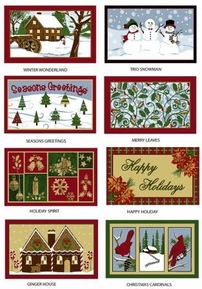 Kitchen 17 x27 Oblong Scatter Rugs (Christmas Patterns)
