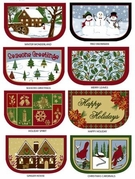 Kitchen Slice Scatter Rugs (Christmas Patterns)