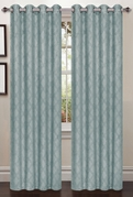 Lattice Blackout Curtain (2 Piece Set) Aqua