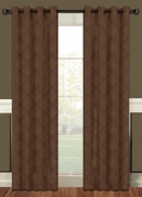 Lattice Blackout Curtain (2 Piece Set) Brown