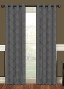 Lattice Blackout Curtain (2 Piece Set) Charcoal